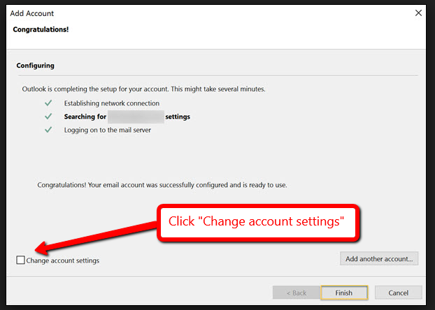 How to Set Up Outlook the First Time - Abacus Private Cloud