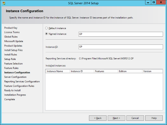 Installing Reporting Services for an Existing Instance
