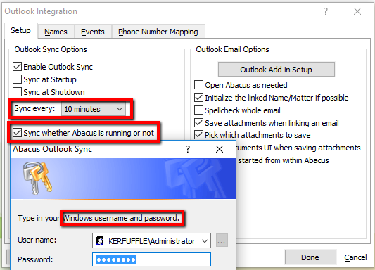 Configuring the Abacus to Outlook Syncing Tool - AbacusLaw