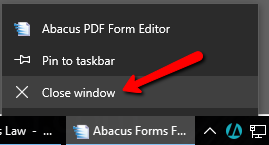 Abacus Forms Does not Show on Screen but is Displayed in the Windows