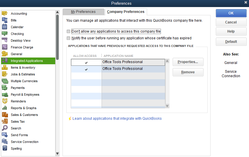 Common reasons why OfficeTools can't sync to QuickBooks