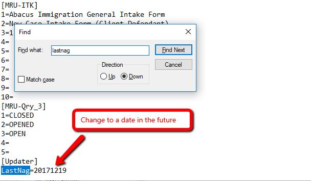 AbacusLaw Freezes at Startup/Initializing - AbacusLaw