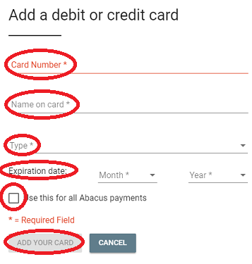 Credit portal cancel
