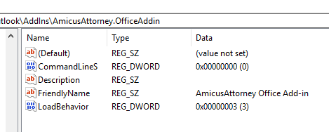 How to Change the Load Behavior of Office Plugins\Add-ins - Amicus