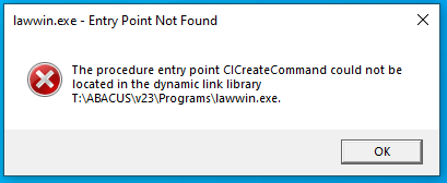 CiCreateCommand Error After Windows 10 Update - AbacusLaw