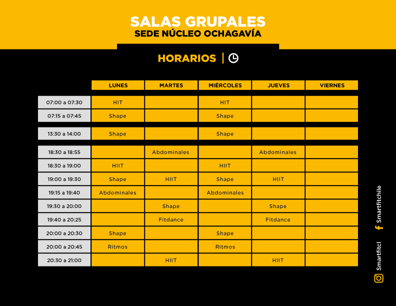Horario ochagavia.web