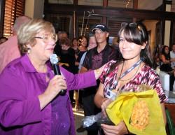 Sherry Friedlander, ACIM founder, and Ana Campos