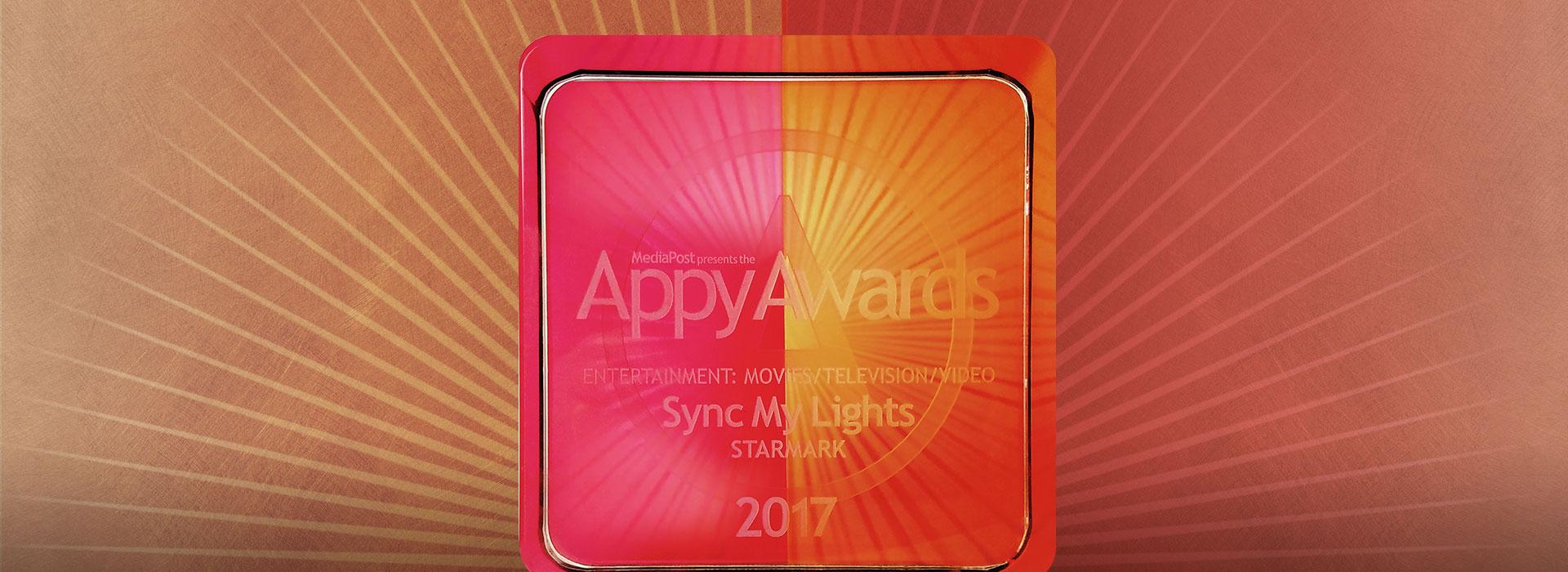 Sync My Lights earns 2017 Appy Award!