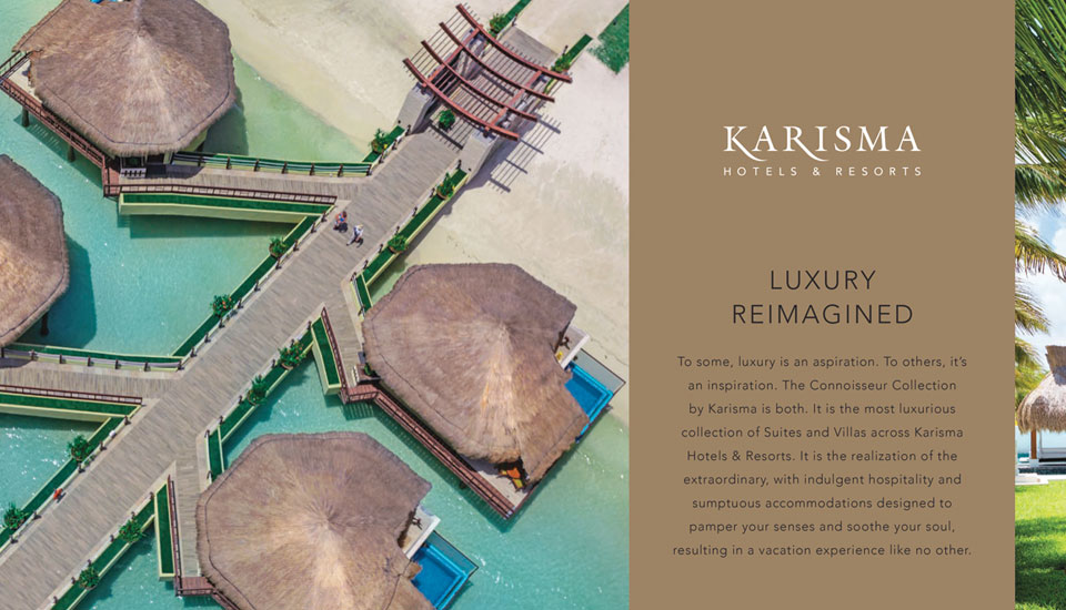 Karisma Luxury Travel Collection Interior Brochure Design Experience