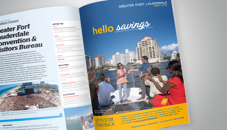 Hello Sunny Print Ad Magazine Greater Fort Lauderdale