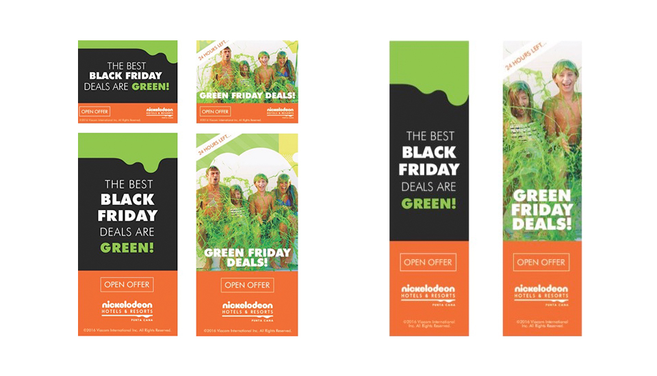 Nick Punta Cana Black Friday Banner Ads