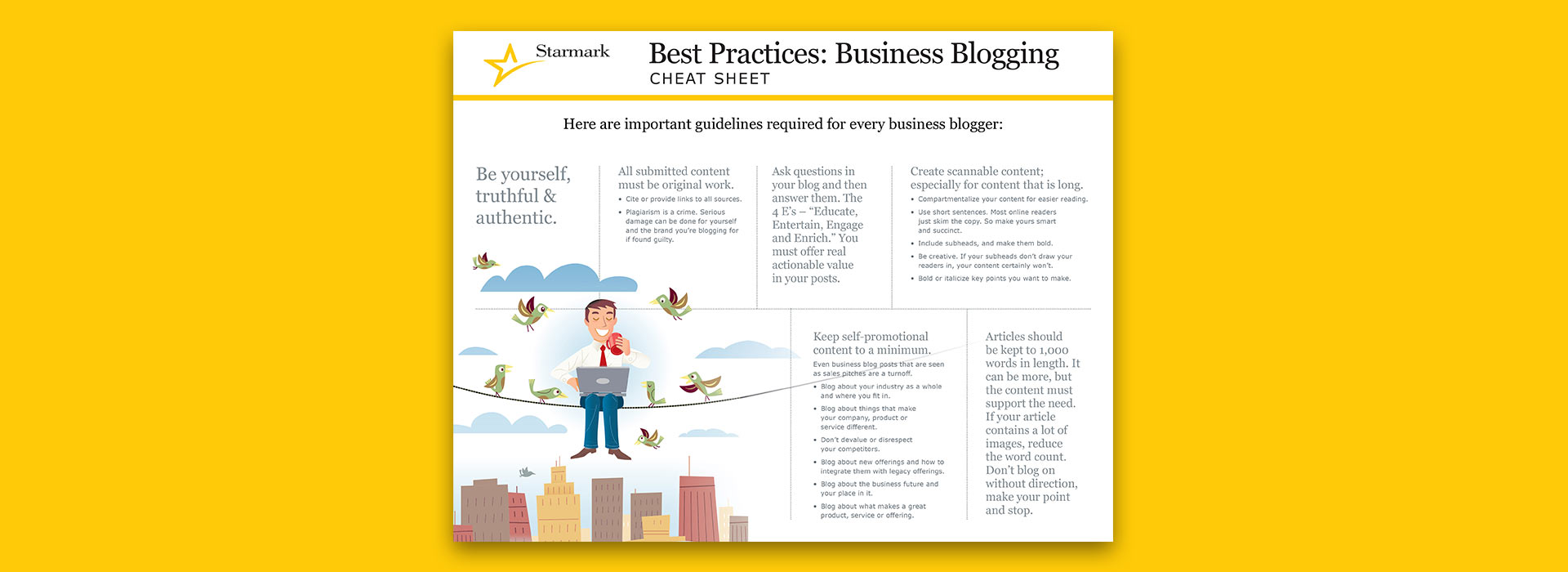 Best Practices in Business Blogging Cheat Sheet | Starmark