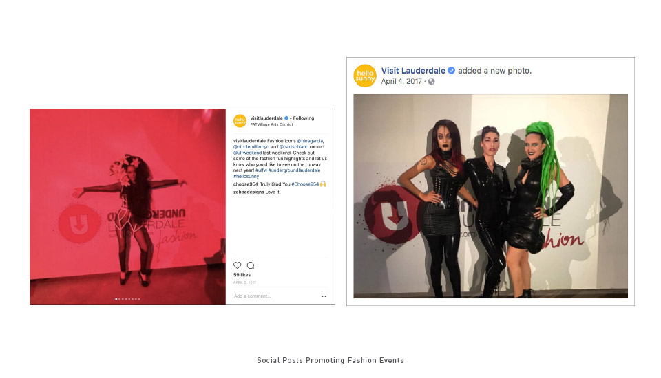 Social Posts Promoting Fashion Events