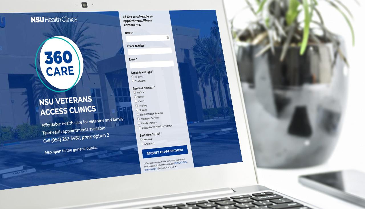 Health Clinics landing page