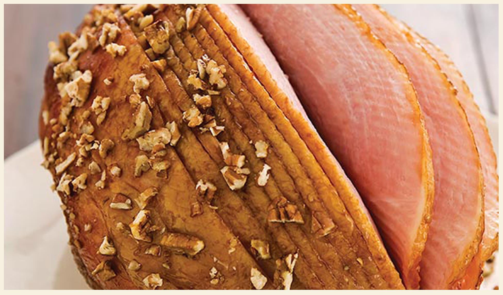Holiday Ham with Pecan Molasses Glaze