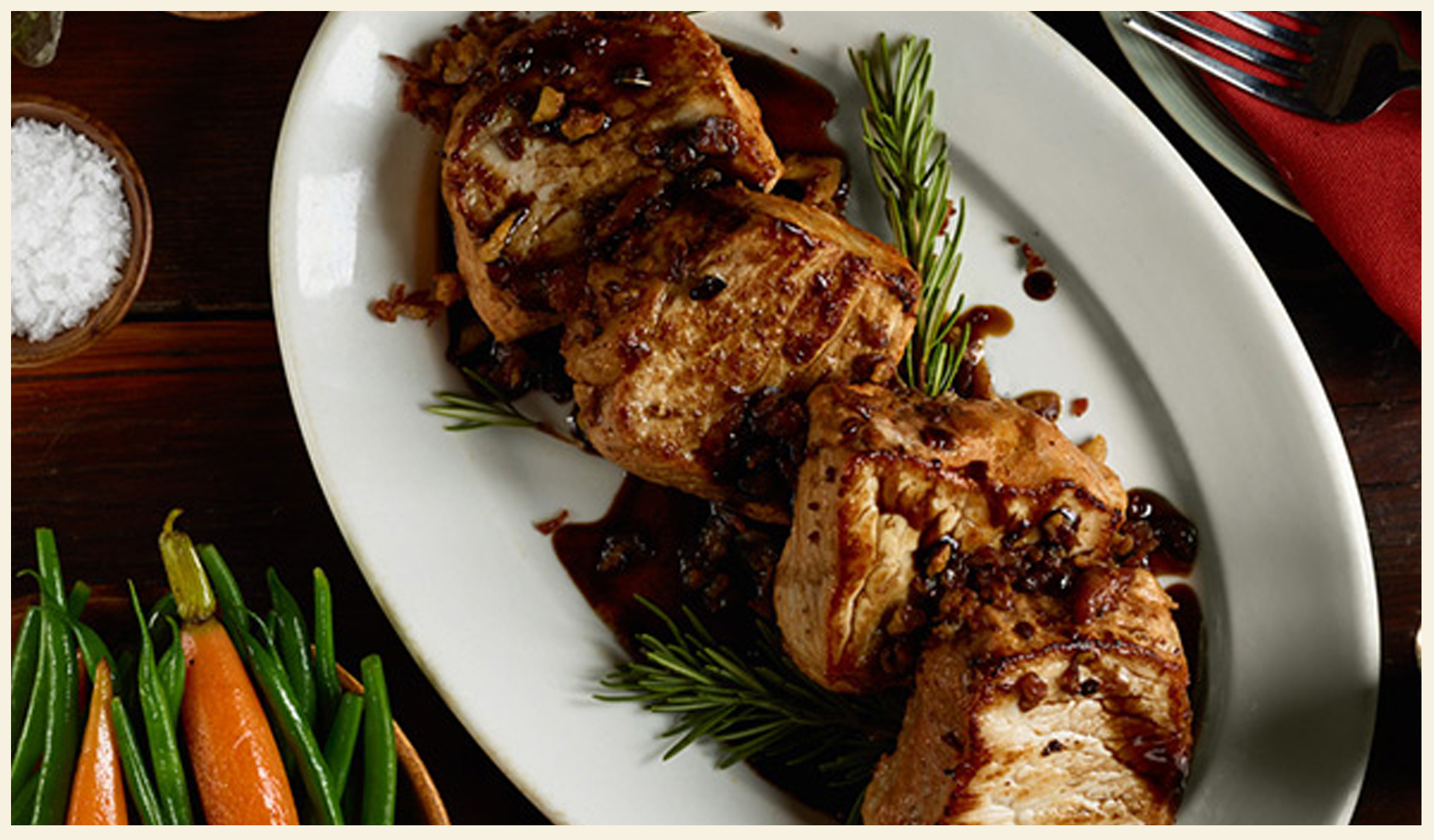 Pork with Sweet Balsamic-Red Wine Reduction