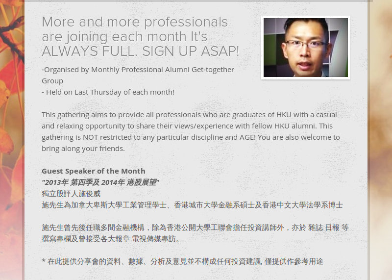 More and more professionals are joining each month It's ALWAYS FULL. SIGN UP ASAP! -Organised by...