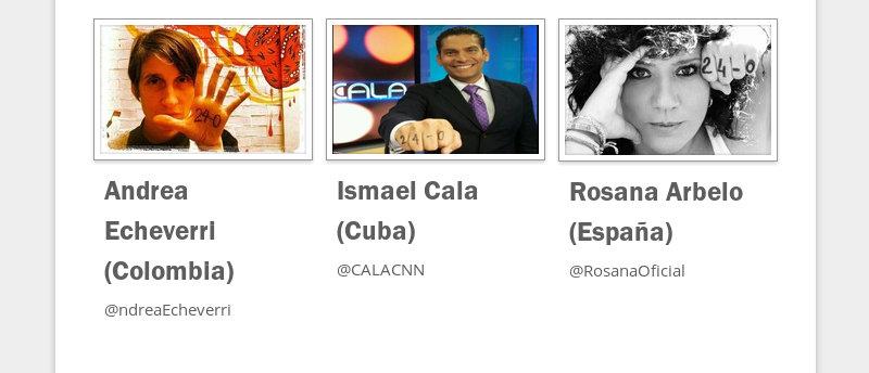 Andrea Echeverri (Colombia)  @ndreaEcheverri  Ismael Cala (Cuba)  @CALACNN  Rosana Arbelo (España)...
