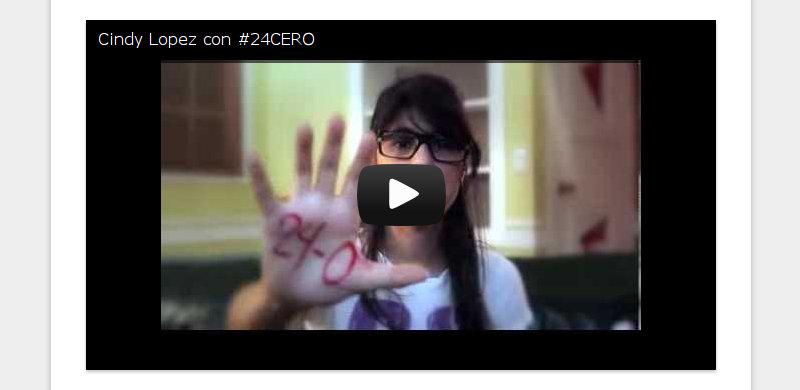 Cindy Lopez con #24CERO