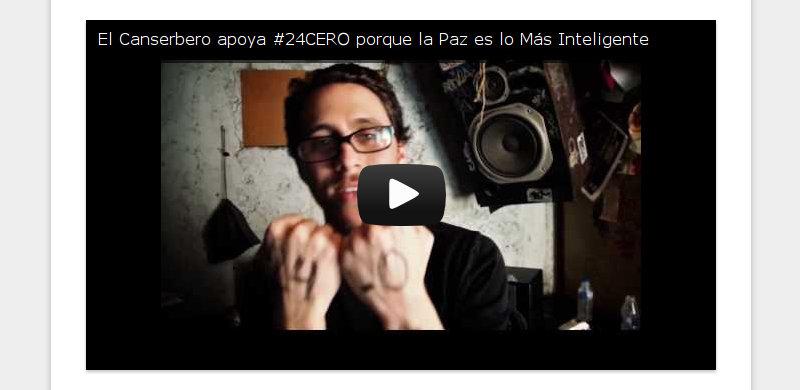 El Canserbero apoya #24CERO porque la Paz es lo Más Inteligente