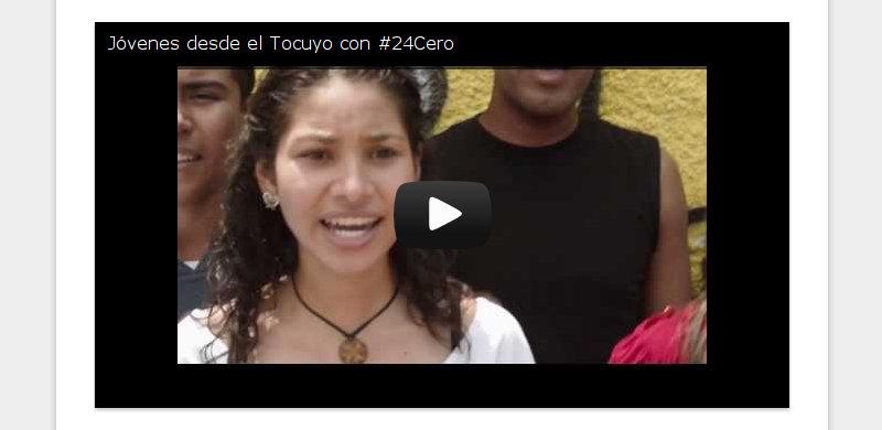 Jóvenes desde el Tocuyo con #24Cero