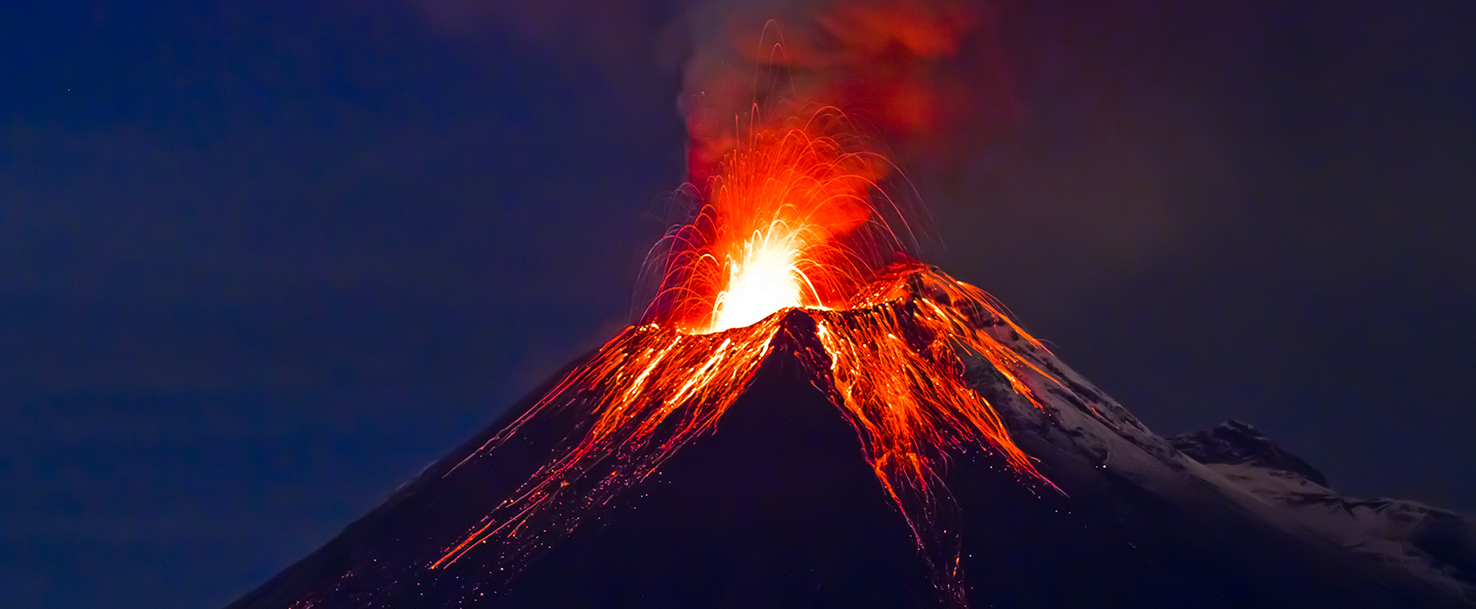 What is a volcanic eruption What comes out of the volcano during the eruption