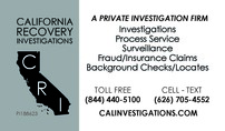 California Recovery Investigations
