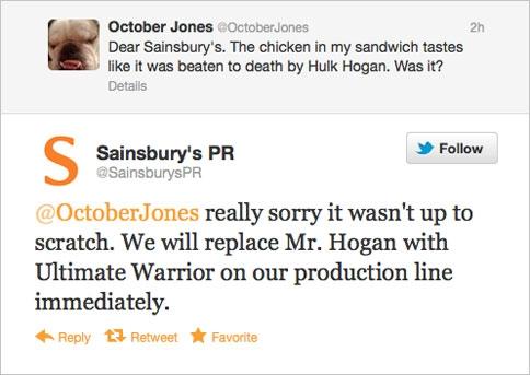 Sainsbury's twitter