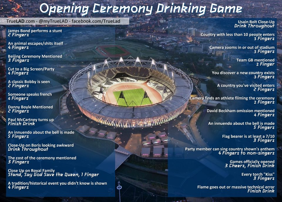 Olympics Drinking Game