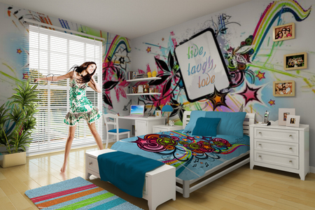 Decorate your first place with funky bedding and Funky bedroom accessories