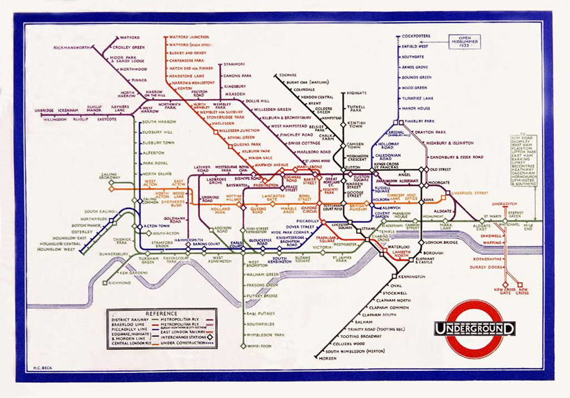 Harry Beck Tube Map