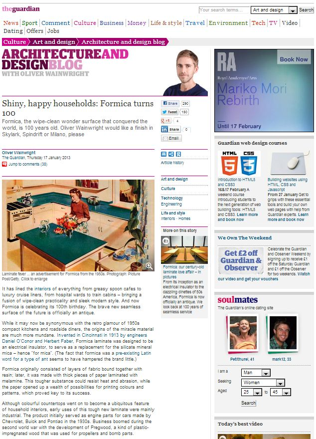 Guardian Formica Article