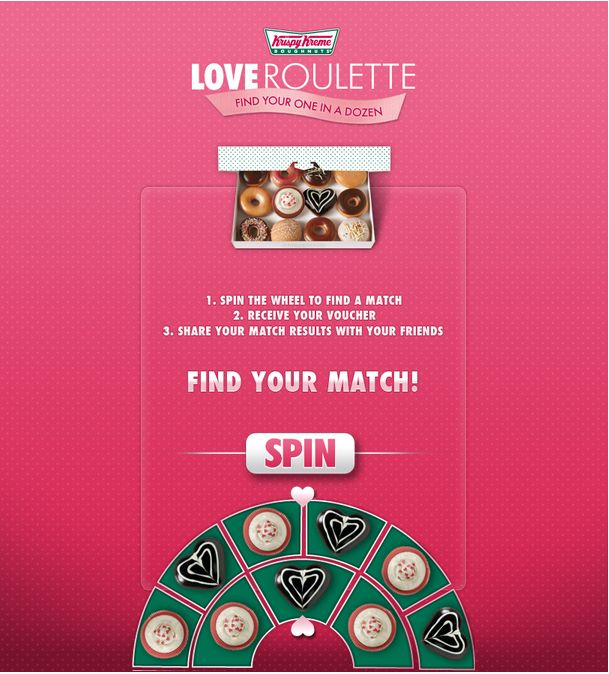 Krispy Kreme Love Roulette