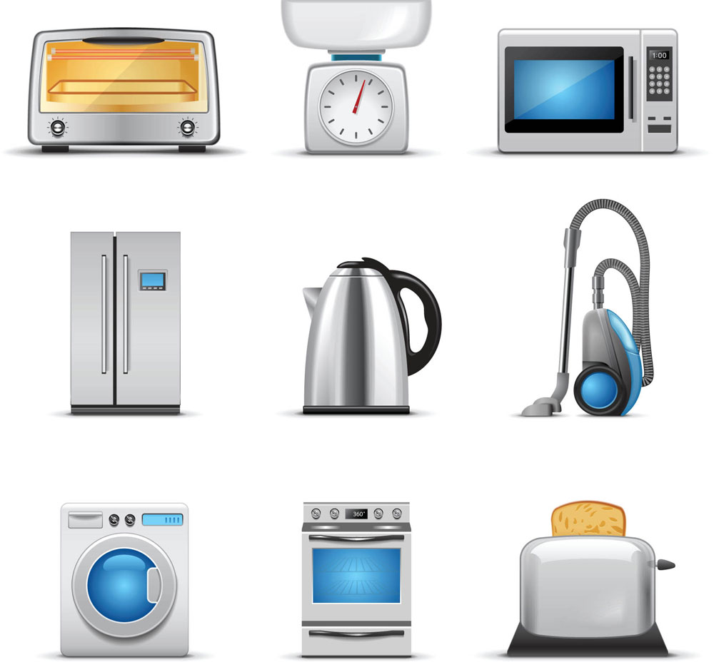 Cartoon Kitchen Appliances