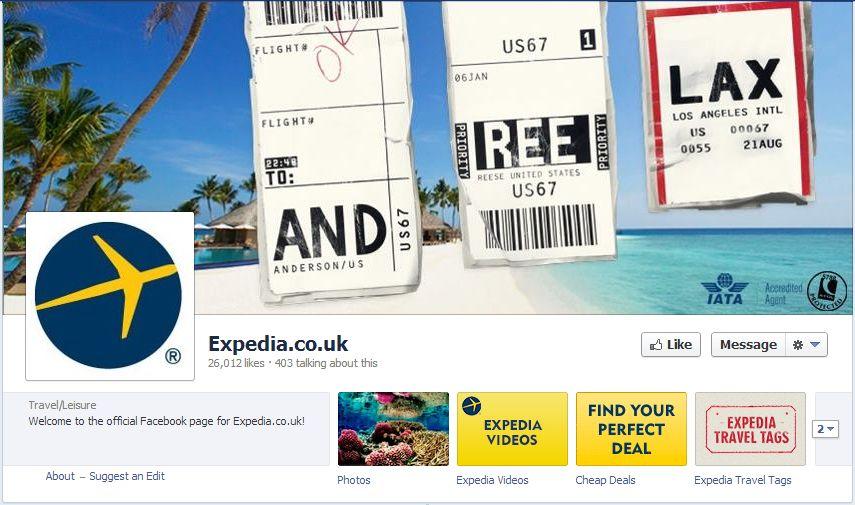 Expedia facebook