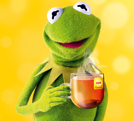the Lipton tea brand by releasing an advert featuring the MuppetsKermit The Frog Drinking Tea