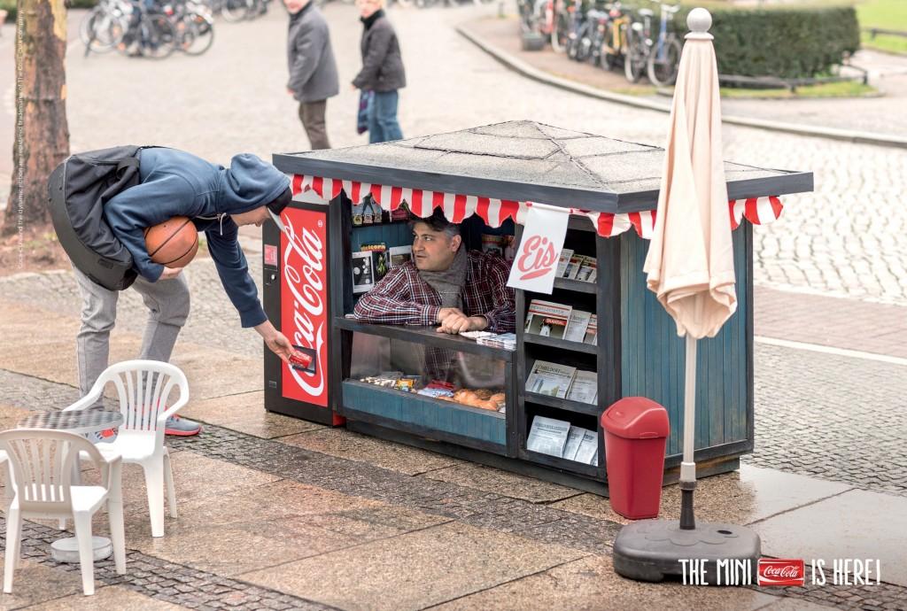 Coca-Cola mini kiosk