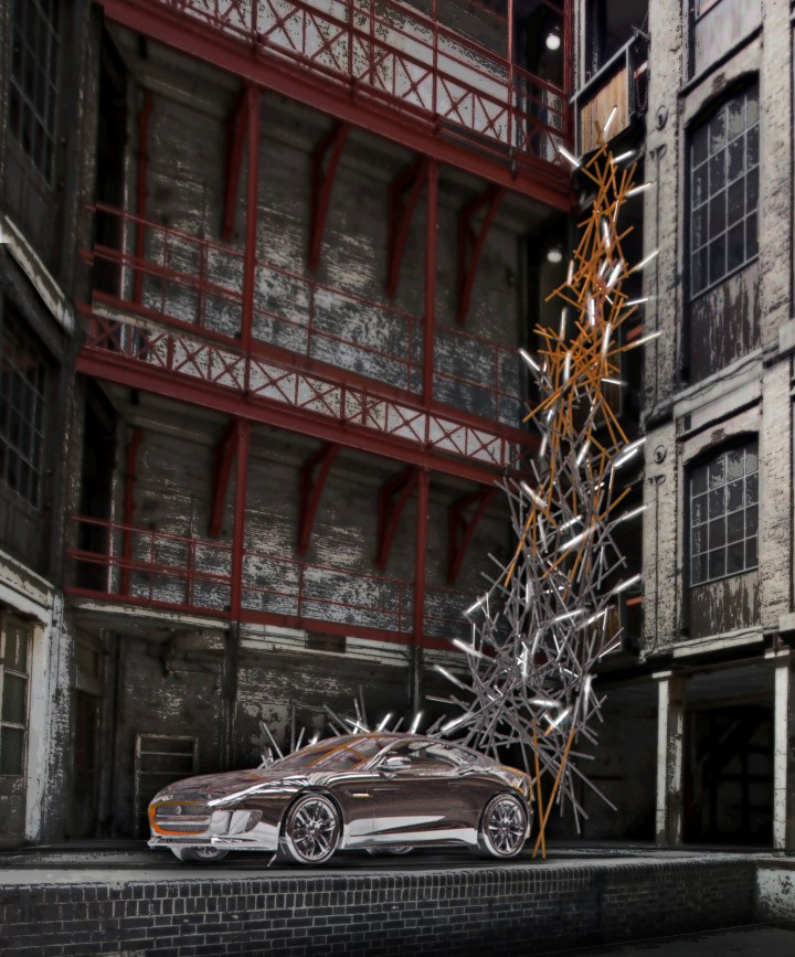 Visualisation of Jaguar Foscarini installation