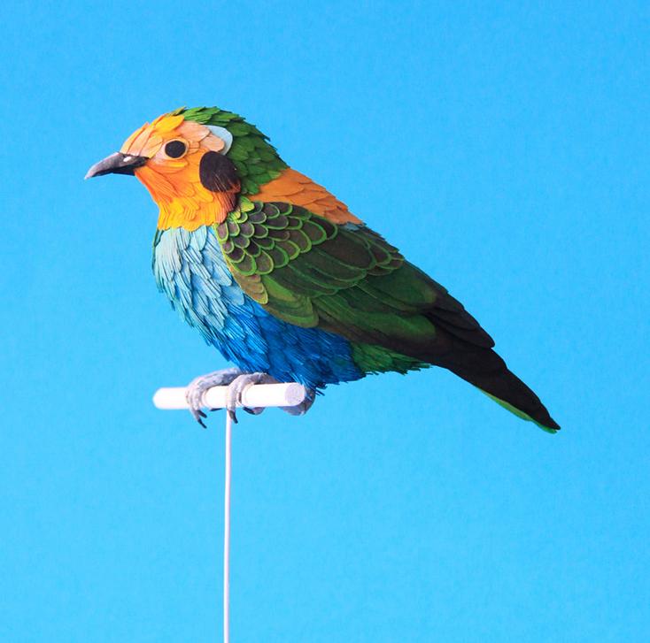 Paper bird model