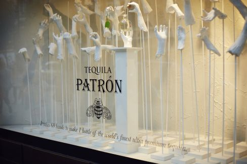 Tequila Patrón windowdisplay