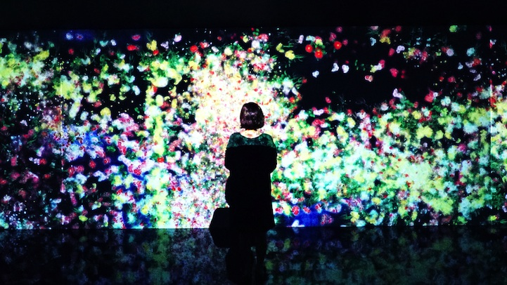 Digital flower installation