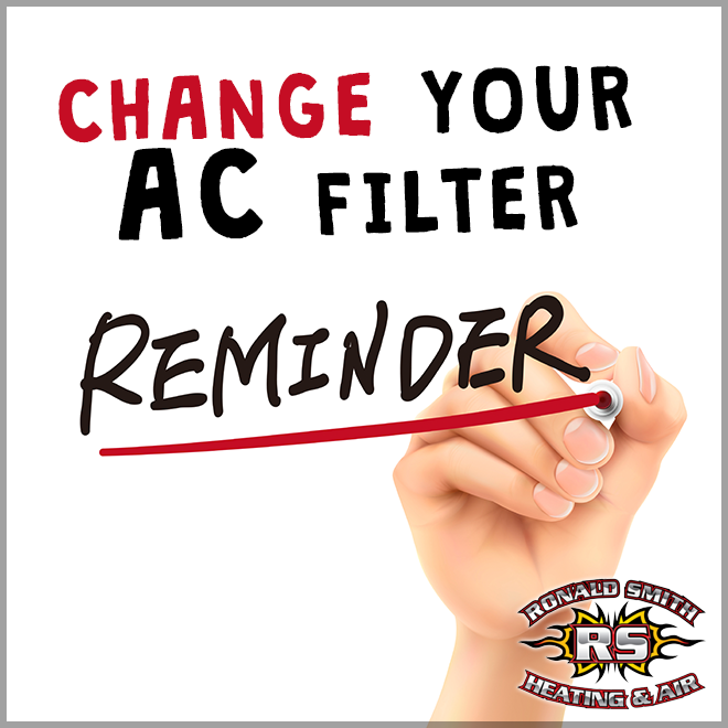 Just a reminder to change those air conditioning filters