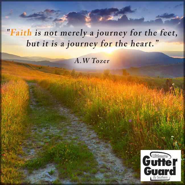 Faith With Images Faith Gutter Guard Journey