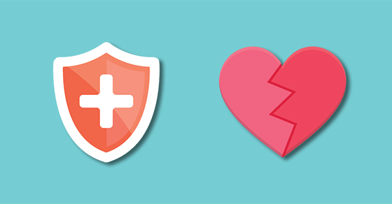 graphic of cross-bearing shield and heart
