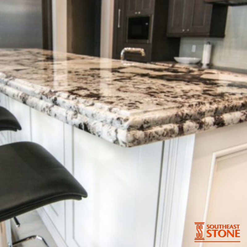 Delicatus White Granite Is A Stone Highly Known For Its White Background With Dark Pattern Its Gorge Quartz Kitchen Countertops Edge Profile White Countertops