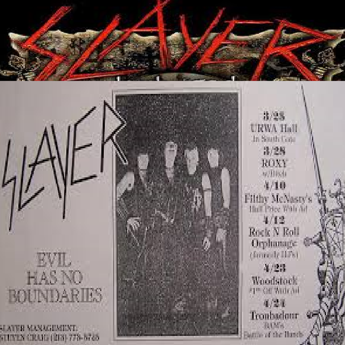 Slayer At Merriweather Post Pavilion May 14 2019 Columbia Md