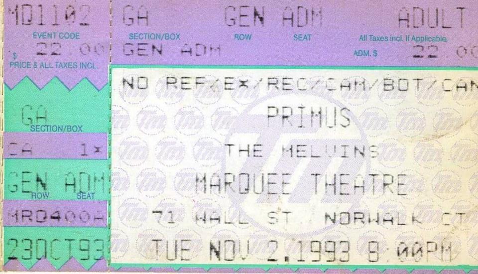 Primus's Concert & Tour History   Concert Archives