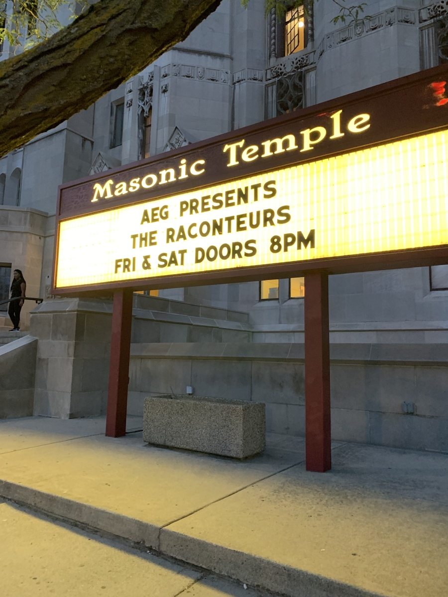 The Concert History of The Masonic Temple Detroit, MI