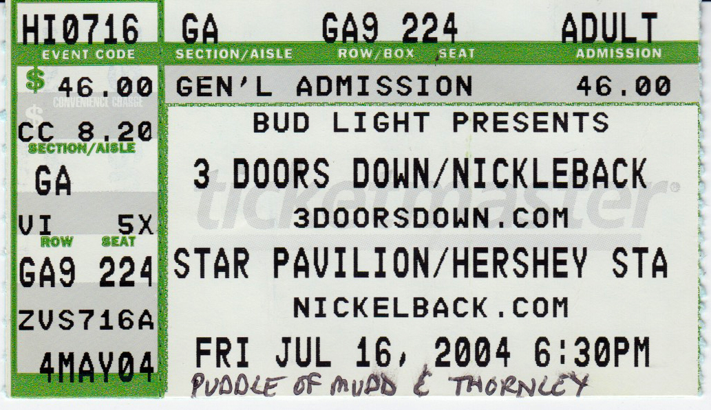 Puddle of Mudd's Concert & Tour History | Concert Archives