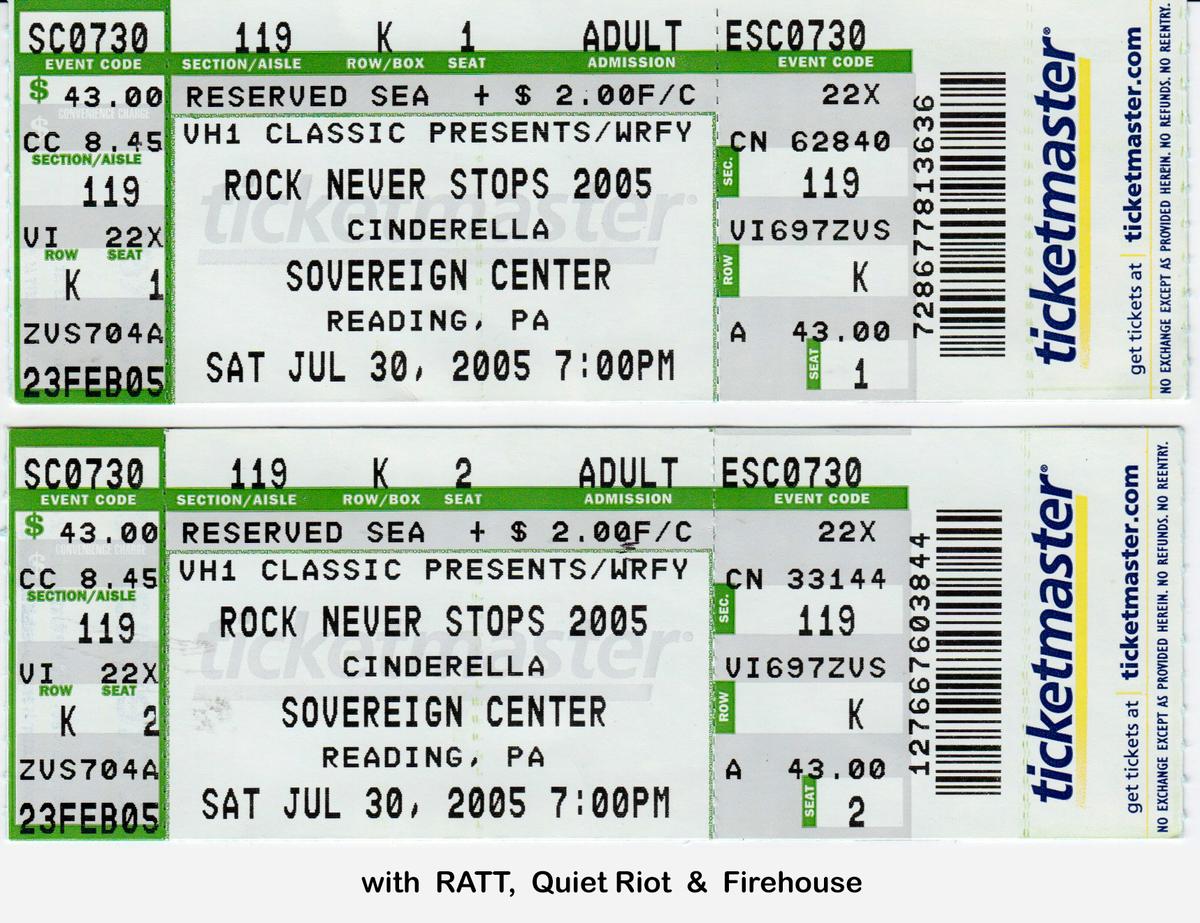 Cinderella's Concert & Tour History   Concert Archives